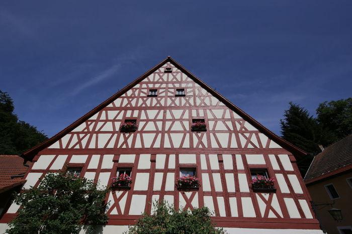 Tüchersfeld (Bavaria, Germany) Bavaria Franconian Switzerland Architecture Boulder Half Timbered Half Timbered House Low Angle View Tüchersfeld Upper Franconia Village