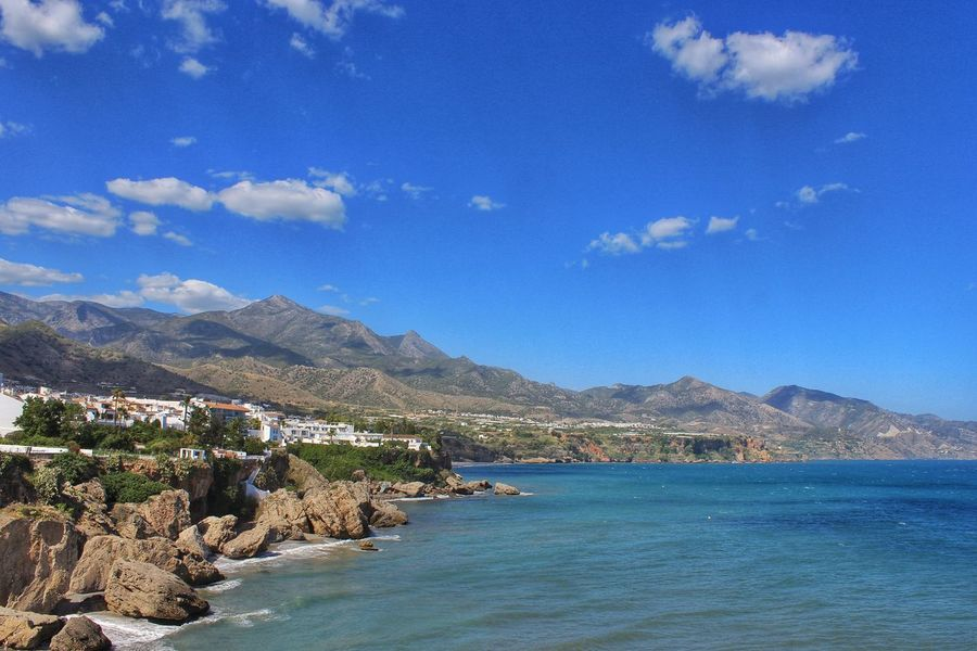 Beauty In Nature Beauty Of Nerja Blue Coastline Day Idyllic Mountain Mountain Range Nature Nerja Nerja Andalucia Nerja Beach Nerja Beauty Nerja Blue Skies Nerja Coast Nerja Coastal View Nerja Coastline Nerja Spain Outdoors Scenics Sky Tourist Photos Of Nerja Tranquil Scene Tranquility Water