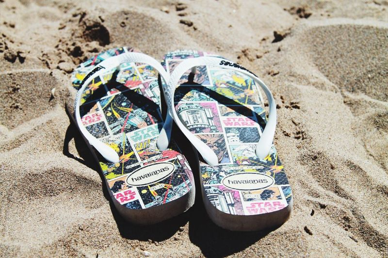 Two Is Better Than One Beach High Angle View Multi Colored Vacations Canvas Shoe Sunny Outdoors Colorful Day Focus On Foreground Shore Large Group Of Objects IAmGSPhotography Star Wars Havaianas Sandals Barcelona Castelldefels Livingthelife Chilling Hot Footwear Shoes Travel Photography