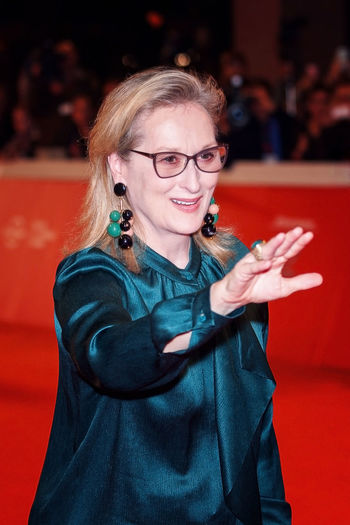 Rome, Italy - October 20, 2016. The American actress Meryl Streep on the red carpet at Rome Film Festival. At the Auditorium Parco della Musica. Actress Beautiful Woman Celebrities Meryl Str Meryl Streep Merylstreep One Person Red Carpet Event Rome Film Fest