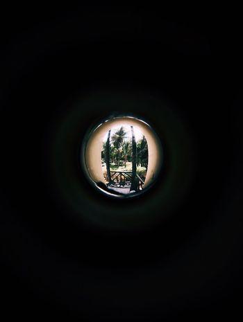 Peep Peep Hole EyeEm Selects Indoors  No People Lighting Equipment Circle Geometric Shape Close-up Dark Single Object Glass - Material Shape