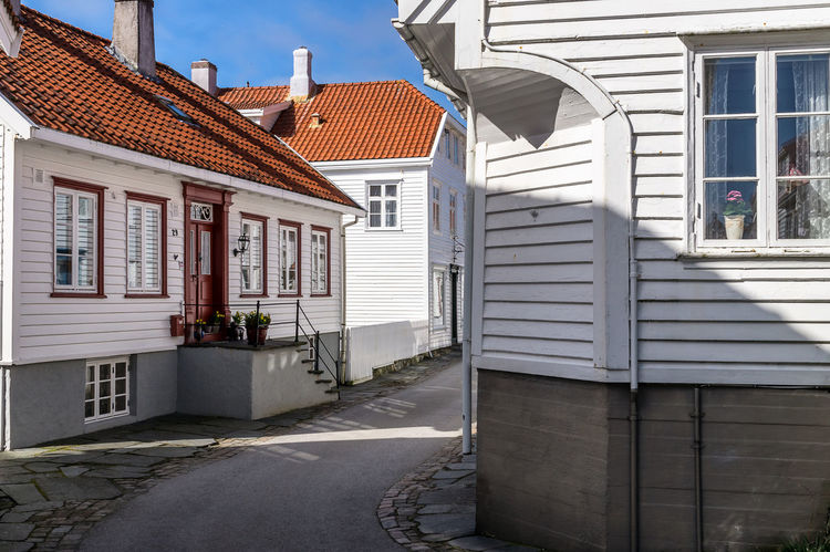 Old town of Skudeneshavn, Norway Norway Skudeneshavn Architecture Building Exterior Built Structure House No People Old House Old Houses Outdoors Residential Building Sky White White House