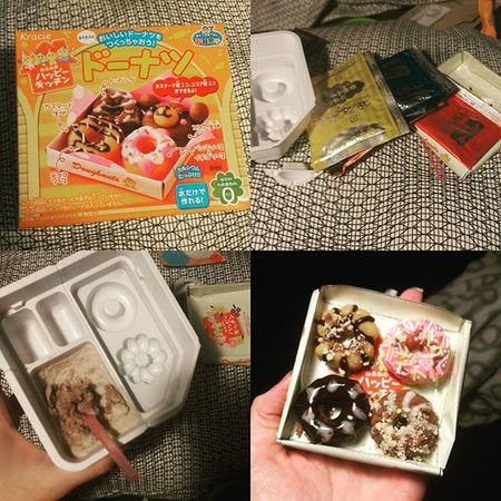My awesome friend picked me up a DIYcandykit and I had so much fun playing with it Doughnuts Donuts Japanese  Candy DIY KAWAII ISuckAtThis Sugarygoodness Sprinkles Delicious Foodporn Yumyums