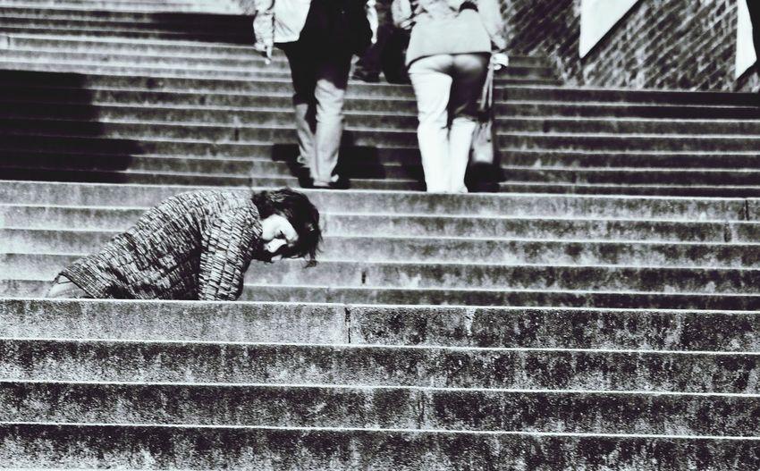Beggar Portrait Monochrome Citylife