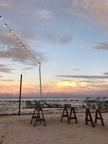 Wedding vibes Sky Cloud - Sky Water Sea Beach Sunset Land Nature Beauty In Nature Scenics - Nature Horizon Over Water Horizon Sand Outdoors Tranquil Scene Tranquility No People