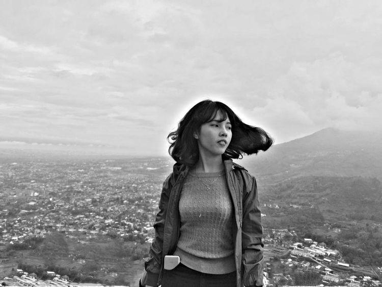 Black And White Photography Moutain Top Paralayang Batumalang Malangcity INDONESIA