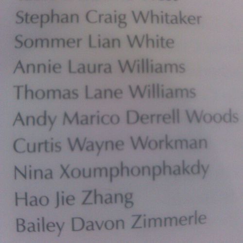 s/o to @andiesel90 for having his whole name in the commencement program lol Congrats cus!! Best if luck in your future escapades lol Graduate 2012 MTSU