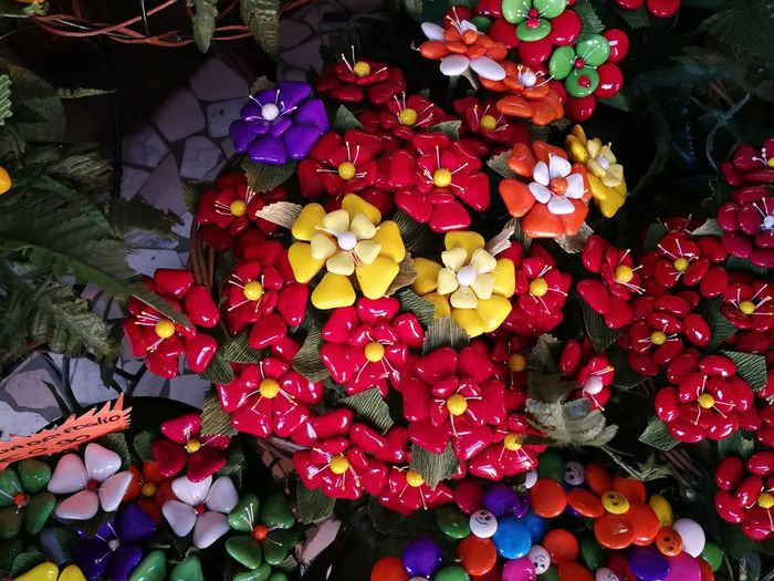 Flower Flowering Plant Plant Beauty In Nature Petal Freshness Growth Flower Head Fragility Inflorescence Vulnerability  Close-up Nature No People Red High Angle View Day Plant Part Multi Colored Outdoors Bunch Of Flowers Bouquet Flower Arrangement Sulmona