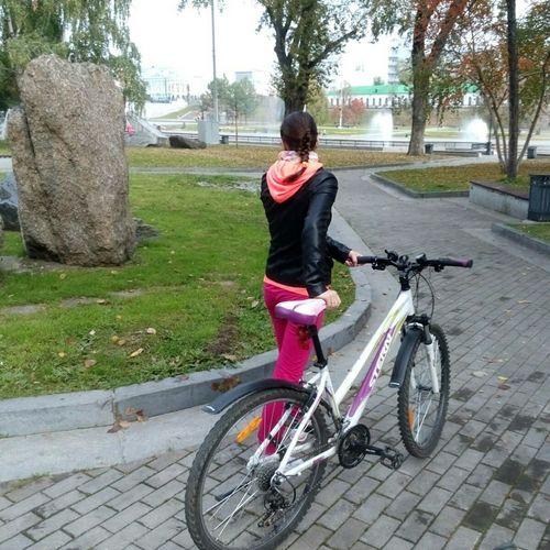 Hi! это я гуляем прогулка на велосипеде