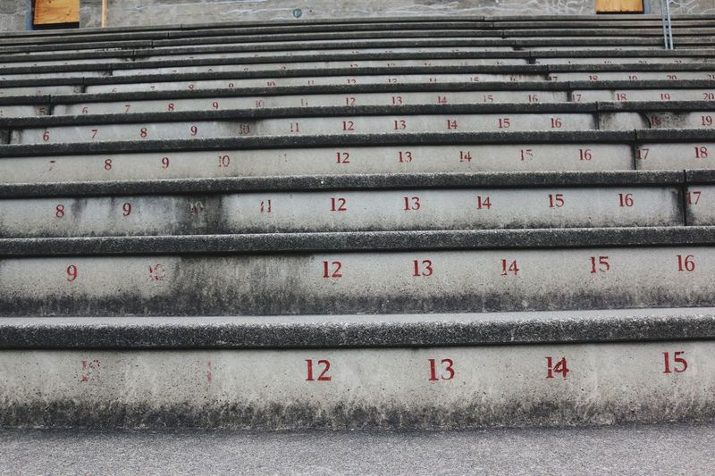 Day No People Outdoors Communication Close-up Stairs Number The Week On EyeEm