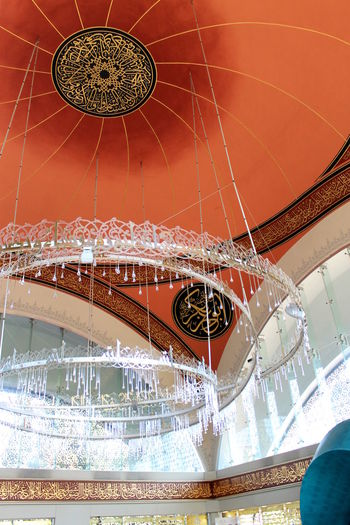 Istanbul Modern Place Of Worship Turkey Close-up Day Dome Female Architect Hall Ice Rink Indoors  Istanbul Turkey Low Angle View Moschee Mosque No People şakirincamii
