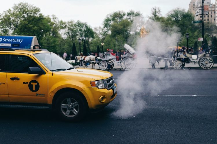 Smoke - Physical Structure Mode Of Transport Transportation Real People Car Sports Race Yellow Taxi New York City Competition Men Outdoors Large Group Of People Motorsport Day Sports Track Competitive Sport Road Motorcycle Auto Racing People Adult Neighborhood Map