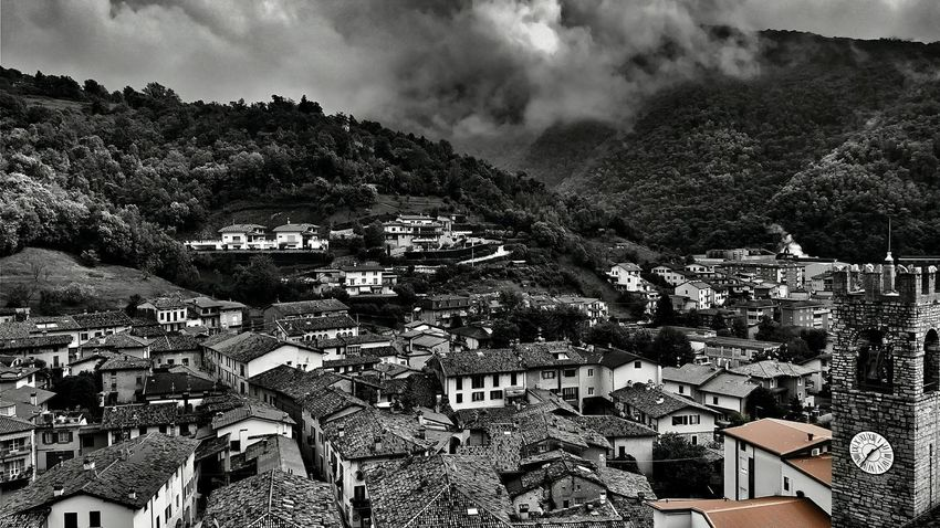 One out of the... Roofs Tower Blackandwhite One Colour One Out Of Many The Village Rooftops Aerial View Overview
