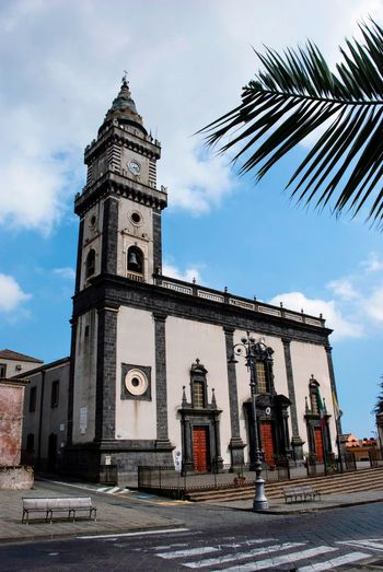 Church Italian Italy Sicilia Sicily Sky Architecture Built Structure Building Exterior Cloud - Sky Nature Low Angle View Building No People Place Of Worship Tower Religion Outdoors