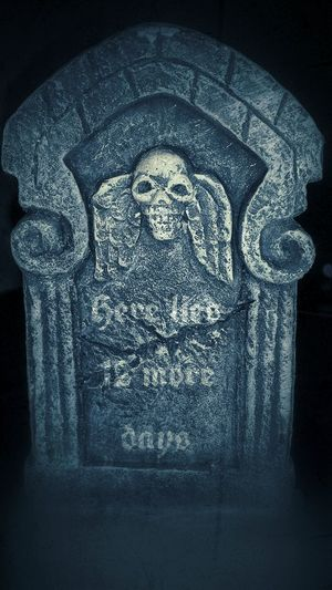 Straight from the grave. Halloween Fantasy Ilovehalloween Creativity Cemetery No People Skulls Tombstone,