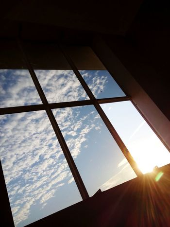 Window Cloud - Sky Sky Low Angle View Indoors  The Color Of School The Colours Of Life Light Sunshine ☀