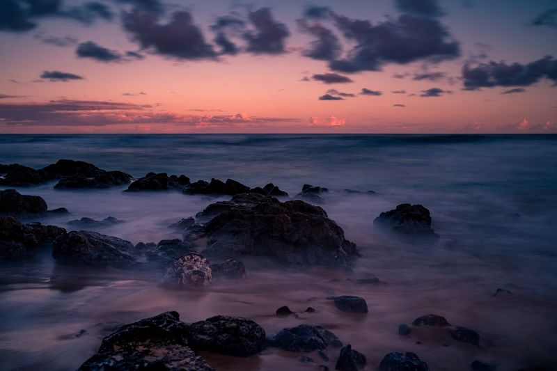 Sunset colors Sunset Beauty In Nature Nature Sky Sea Horizon Over Water Water Beach Cloud - Sky Fujifilm Fujifilm_xseries Hawaii Oahu EyeEm Nature Lover Fujifilm X-Pro1 Sunrise_sunsets_aroundworld Sea And Sky Seascape