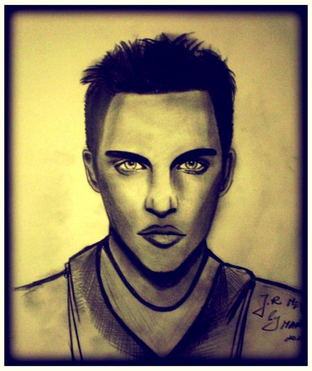 Actor Adult Art ArtWork Draw Drawing Human Face Indoors  Lifestyles One Person Painting Art Portrait Portraits Young Adult