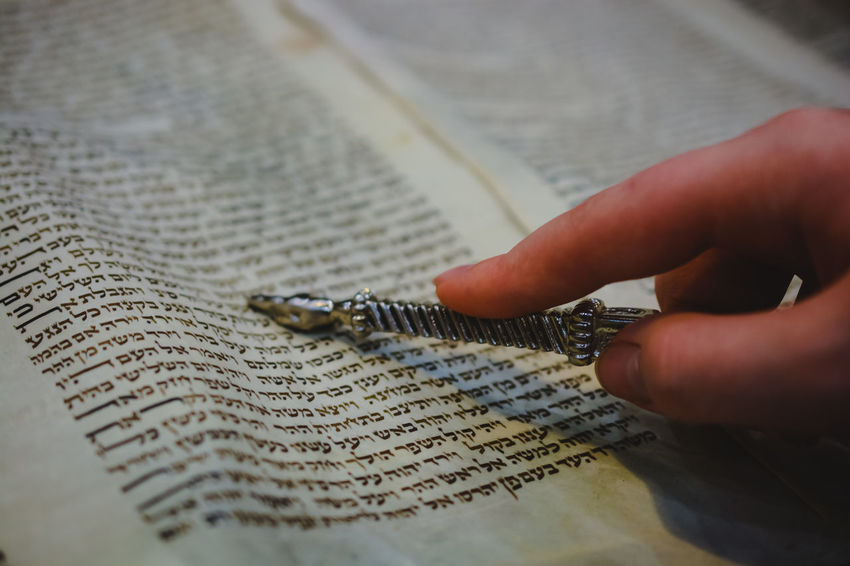 Event Hands Jewish Man Reading Torah Bar Mitzah Boy Close Up Day Focus Growing Up Hand Human Hand Indoors  One Person People person Pointing Religion Religious  YaD
