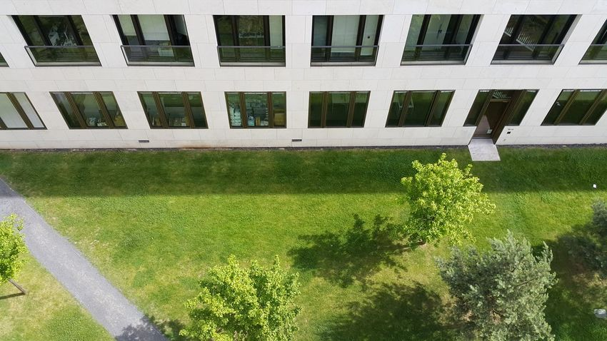 Green Color Grass High Angle View Outdoors Day No People City Summer University University Campus Frankfurt Frankfurt Am Main Goethe University Nature Vs City Architecture Workplace