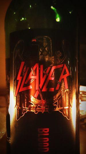 Great redwine. Slayer Reigninblood Redwine Cabarnetsauvignon