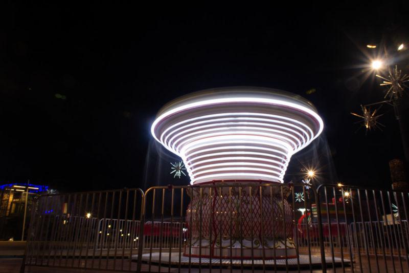 Motion City Illuminated Cityscape Long Exposure