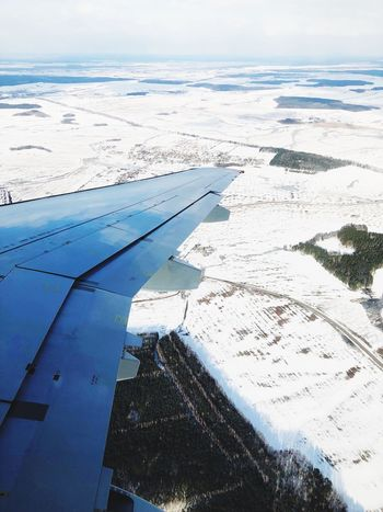 Day Outdoors Nature No People Beach Snow Cold Temperature Airplane Sky