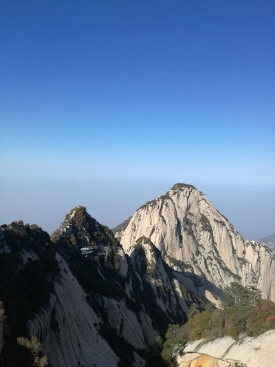 Top Of The Mountains Clear Sky Blue Mountain Huashan Mountain Huashan - Xi'an Sky Natural Beauty I LOVE PHOTOGRAPHY