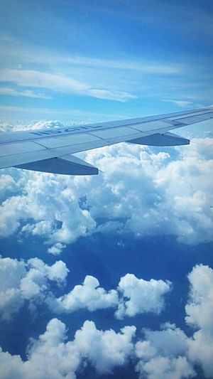 Here we go Flying Heaven Airplane Sky Cancun, Mexico First Eyeem Photo
