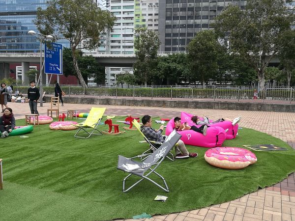 Outdoors Green Color People Grass City Day Harbour Front Chilling HongKong Tsuen Wan Growth