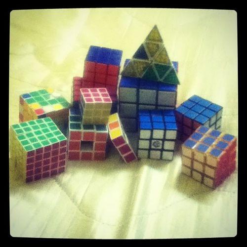 fuhh lame tak main , berhabuk da dlm almari Mycollection Toys Rubikscube Rubikspyramid pyramid cube 1x3 2x2 3x3 4x4 5x5 hobby rubikscubecompetetion
