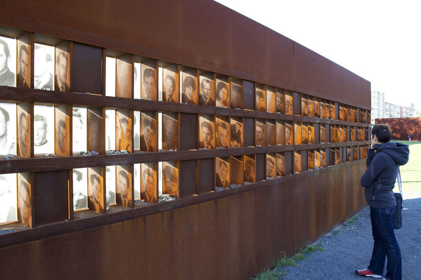 Berlin wall memorial at Bernauer Strasse Berlin Photography Bernauer Strasse Berlin Wall Memorial Day Lifestyles One Person Outdoors Pictures Tell A Story