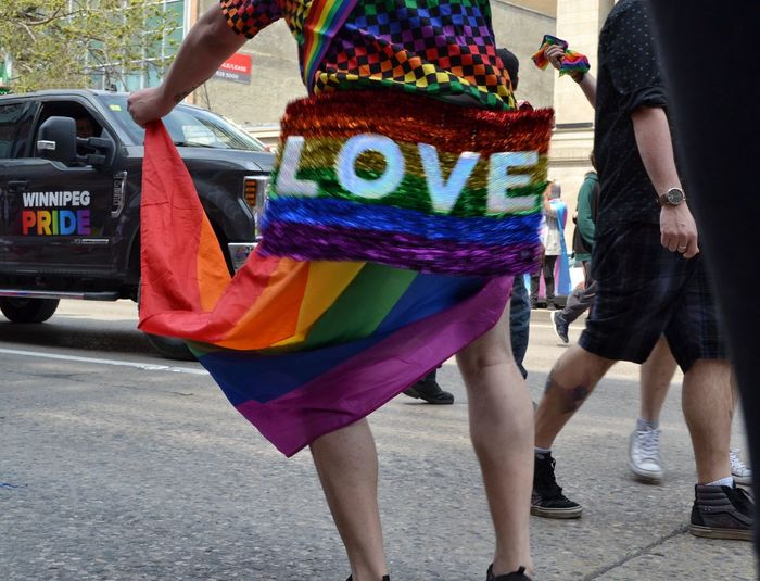 Love LGBTQ Rights Lgbtq Gay Pride Queerasfuck Pride Pride Parade Multi Colored Street City Human Body Part Day Body Part People Low Section Adult Lifestyles Real People Flag