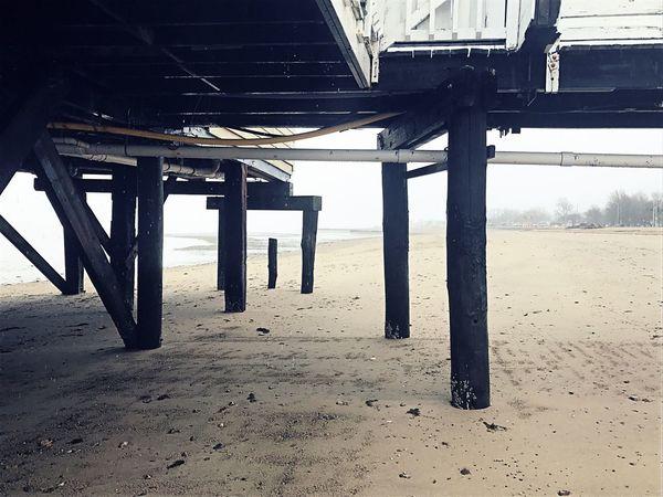 Beach Sand Sea Bridge