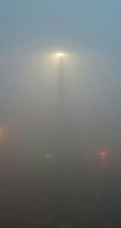 Bloodylampposts Foggy Morning Poor Visibility