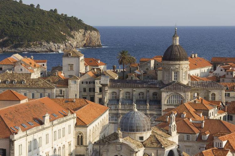 Dubrovnik Dubrovnik, Croatia Croatia Outdoors Lokrum  Lokrum Island Cityscape Building Exterior Architecture Built Structure Building Water Place Of Worship Religion Dome Roof Belief City Spirituality Sea Residential District No People Day Horizon Over Water TOWNSCAPE