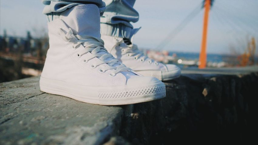 Close-up Focus On Foreground Nautical Vessel Outdoors Day Sailboat Water No People Feet Legs Fashion Real People Style Outdoor Clean Shoes Day (null)Clean Sneakers Gumshoes Activity Sportswear
