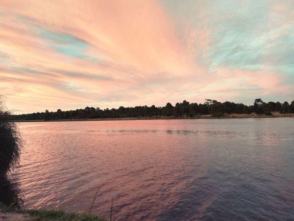 Cloud - Sky Sunset Lake Water Reflection Dramatic Sky Landscape