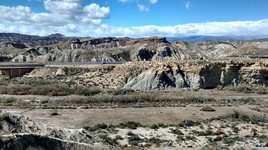 Geology SPAIN Almería Desert Rocks Sky And Clouds Blue Sky Landscape EyeEm Best Shots Eye4photography