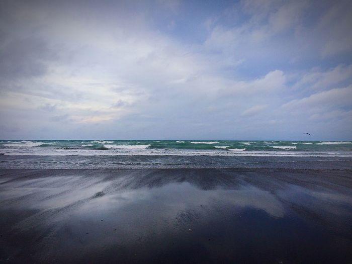 Kairaki beach New Zealand Beauty Beach Waves, Ocean, Nature Sky And Clouds No People Deep Breath Nature