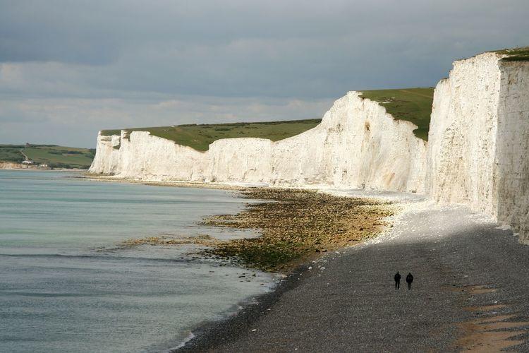 Tourists on the coast