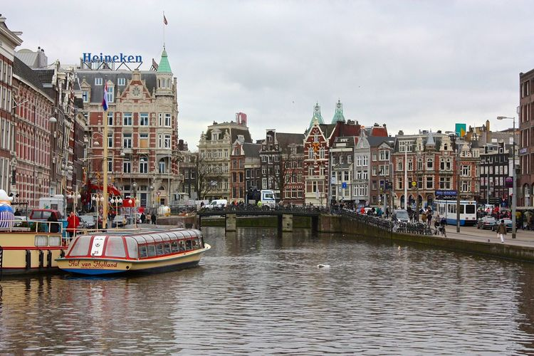 Architecture Building Building Exterior Built Structure Canal City City Life Cityscape Day No People Outdoors River Sky Transportation Travel Travel Destinations Water Waterfront Your Amsterdam