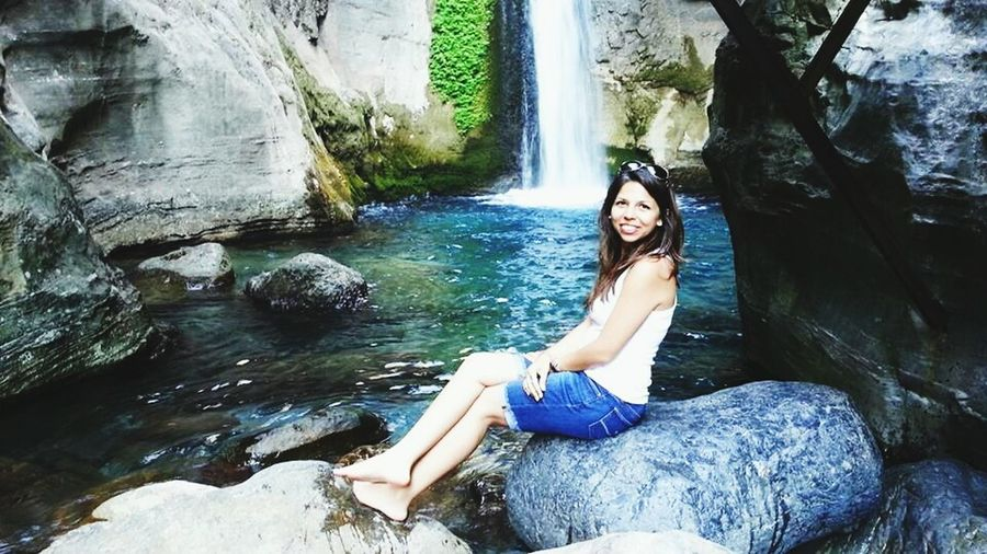 Hi! That's Me Canyon Waterfall Water_collection Nature EyeEm Nature Lover Hanging Out Check This Out Missing Summer