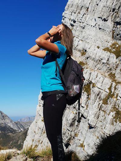 trekking @ Monte Corchia, Alpi Apuane, Tuscany, Italy @DianaCavalleri #HikerDK Apuane Apuane Mountains Marble Italy Hikingadventures Woman Hiking Silhouette Trekking Shadows & Lights Climbing Mountain Rock Climbing Clear Sky Women Adventure Climbing Rope Standing Young Women Hiking Mountain Climbing Hiker