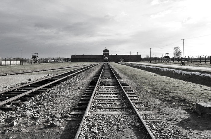 no way out. its over. Auschwitz  Awful Cry History No People Oswiecim Outdoors Poland Rail Transportation Railroad Track Sadness Transportation