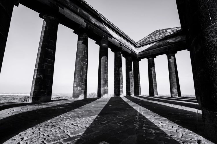 Architecture Built Structure Architectural Column History Day Travel Destinations Sunlight Bridge - Man Made Structure No People Sky Outdoors Ancient Civilization Shadows & Lights Northeast Penshawmonument EyeEm Gallery North East England Nikonphotographer TheWeekOnEyeEM EyeEm Best Shots Blackandwhite Black & White Nikon Blacknwhite Nikonphotography