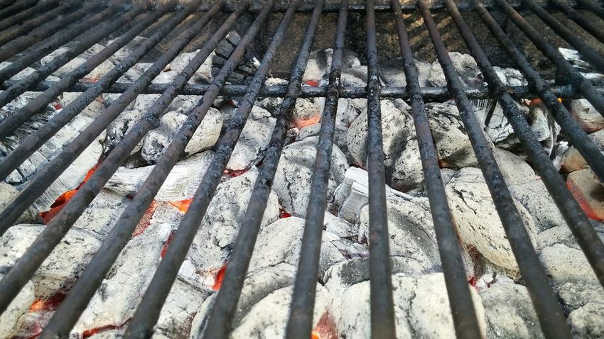 Grill Charcoal Hot Ashes Summer BBQ