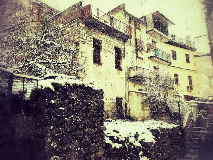 Architecture Winter No People Snow Cold Temperature Sardegna