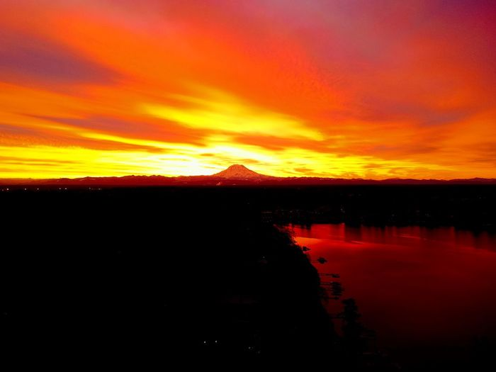 Sunrise EyeEmNewHere Dji Spark Sunrise Dramatic Sky Orange Color Beauty In Nature Scenics Atmospheric Mood Nature Mountain Awe