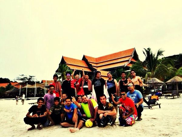 this is a group of team building program at laguna redang beach resort, redang island malaysia. They are staffs under a same company involve in oil and gas industry in malaysia. Story Behind The Photo The Story Behind The Picture